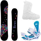NEW 2015 Siren Theory Snowboard Package + Lux Boots +Mystic Bindings  Ride On!