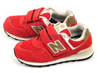 New Balance NB KV574CNY W Kids Youth 2015 Suede Lifestyle Shoes Red/Gold/White