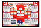 Framed Womens Football Soccer World Cup 2015 Wall Chart Poster New