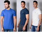Mens Designer Voi Jeans Casual T Shirt Smart Crew Neck Tee Square Print Top Pitt