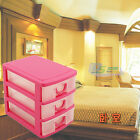 New Home Office Organizer Makeup Jewelry Earring Ring Drawer Storage Box 4 Color