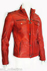 Mens 5540 Gents Red Designer Real Sheep Nappa Soft Lambskin Leather Jacket