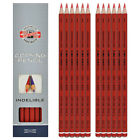 Koh-I-Noor 1561 Indelible Copying Pencils in Red or Blue - Pack of 12