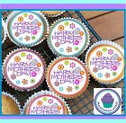24 MOTHERS DAY DESIGN 1 EDIBLE CUP CAKE TOPPER PREMIUM WAFER PAPER or ICING