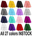 M Women Lady Satin Pleated Retro High Waist Shiny Mini Skirt Boho Girl 27 Color