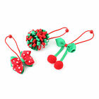 Christmas Girl Toddler Elastic Headband Hair Band Hair Bow + Red Hook