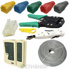 50M RJ45 Network Ethernet Wire Tester Crimping Punch Tool Accessory Kit End Boot