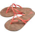 Volcom All Night Long Womens Footwear Sandals - Electric Coral All Sizes