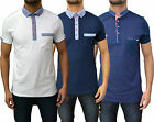 Mens Designer Bewley&Ritch Polo T Shirt Smart Collared Jersey Pique Top 3 Styles