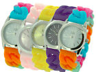 Ladies/Girls Designer Silicon Jelly Rubber Strap & Stone Set Dial Bracelet Watch