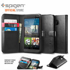 FOR HTC ONE M9 CASE, Genuine Spigen Flip View Wallet S Cover HOLDS CARD & NOTE