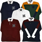Tommy Hilfiger Mens Rugby Polo Shirt Long Sleeve Knit Classic Fit Logo S M L Xl