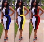 Sexy Women Sleeveless pencil Bandage Bodycon Party Evening Cocktail mini Dress