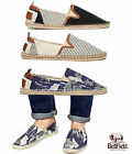 Mens Bellfield Espadrilles Canvas Slip On Trainers Summer 3 Flats Pumps Shoes