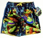 NINJA TURTLES UV-50+ Bathing Suit Swim Trunks Boys Sizes 4/5, 6/7,8 or 10/12 $24