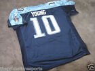 VINCE YOUNG #10 - Tennessee Titans (Eagles) Blue Sewn Jersey -- ALL SIZES AVAIL.