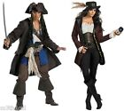 COUPLES ADULT JACK SPARROW AND ANGELICA PIRATES OF CARRIBEAN CAPTAIN  COSTUME