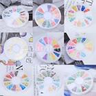 Fimo Slices wheel Nail Art Decoration Flower leaf Butterfly Smiling face Bowknot