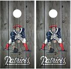 Patriots Throwback Vintage Wood Cornhole Board Decal Wrap Wraps (Grey)