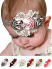 Baby Girl Infant Elastic Flower Rose Lace Hairband Headband Photo Prop Xmas Gift