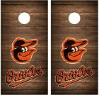 Baltimore Orioles Vintage Wood Cornhole Board Decal Wrap Wraps (brown)
