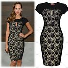 2015 Vintage Womens Spring Summer Black Lace Cocktail Party Evening Mini Dresses