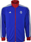 ADIDAS MENS FC BASEL TRACK TOP FOOTBALL SWEATSHIRT FULL ZIP JACKET BLUE/RED NEW