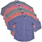 Tommy Hilfiger Mens Buttondown Shirt Classic Fit Gingham Checks Long Sleeve New