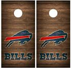 Buffalo Bills Vintage Wood Cornhole Board Decal Wrap Wraps (brown) on eBay