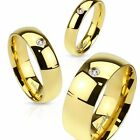 Men's 8mm Wide 14k Gold Plated AAA Cubic Zirconia Wedding Ring Band Size 9-13