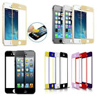 Colorful Tempered Glass Film Screen Protector for iPhone 5 5S 5C Perfect