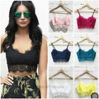 Sexy Womens Lace Floral Unpadded Bralette Bralet Bra Bustier Crop Top Cami Tank