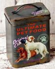 Dog Treats Food Canister Tin Storage  Vintage Antique style Box Pet Supplies