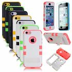 Hybrid Heavy Duty Shockproof Matte Stand Hard Case Cover For iPhone 5C+Protector