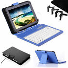 "Leather Stand Folio Case Cover With USB Keyboard for 7 7"" Android Tablet +Stylus"