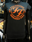 FOO FIGHTERS Official Womans Skinny Tee Shirt BLACK New RED LOGO