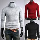 Fashion Mens Thermal Turtle Polo Neck Turtleneck Cotton Sweater Stretch Shirts S