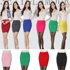 Striped Sexy Women's Mini Skirt Above Knee Clubwear Short Pencil Skirt Dresses S
