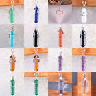 Mixed Natural Opal Amethyst Agate Lapis Beads Zinc alloy Pendant Free Shipping