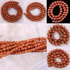 """Natural 2MM 3MM 4MM 6MM 8MM 10MM 12MM Gold Sandstone Round Loose Beads 14.5"""""""