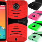 Dual Layer Hard Soft Hybrid Stand Phone Cover Case for Motorola Google Nexus 6