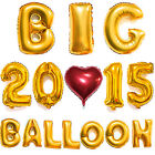"40"" Gold/Silver Big Foil Letter Number Balloons Wedding Birthday Party Decor"