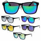 Kush Brand Mens Matte Plastic Color Mirror Lens Thin Plastic Sporty Sunglasses