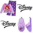 SOFIA FIRST PRINCESS Fleece Pajamas Sleepwear Set w/Optional Slippers NWT $26-42