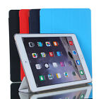 Ultra-thin Stand PU Leather Case Cover Clear Back Magnetic For Apple iPad Air 2