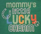 Green Baby's 1st First St. Saint Patrick's Day Lucky Horseshoe Onesie NB-6 Mos