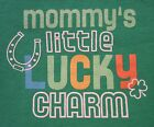 Green My Baby's 1st First St. Saint Patrick's Day Lucky Horseshoe One Piece NB-6