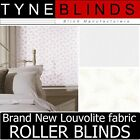 Louvolite FLUTTER ROLLER BLINDS - straight edge - made to your exact size.
