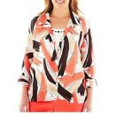 Alfred Dunner Blouse & Top Coral Gables Brushstrokes women's size 12, 14, 16 NEW