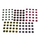5mm 3D Eyes 5 COLOUR COMBO for Fly Tying Replacement Lure See Description Please
